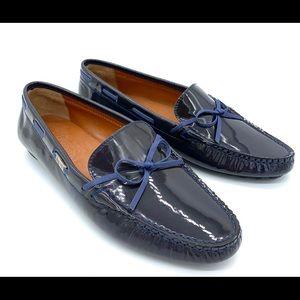 Salvatore Ferragamo Faddy Navy Patent Leather Shoe